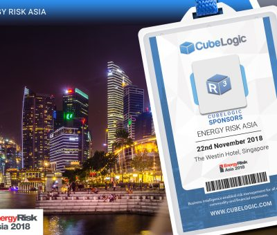 22 November 2018 – CubeLogic Sponsor Energy Risk Asia 2018